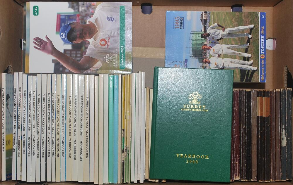 Surrey CCC Official Yearbooks For 1930 To 1939 1940 45 1949 2008 2010 2013 And 2015 Odd Faults Early Editions Otherwise In Good Very