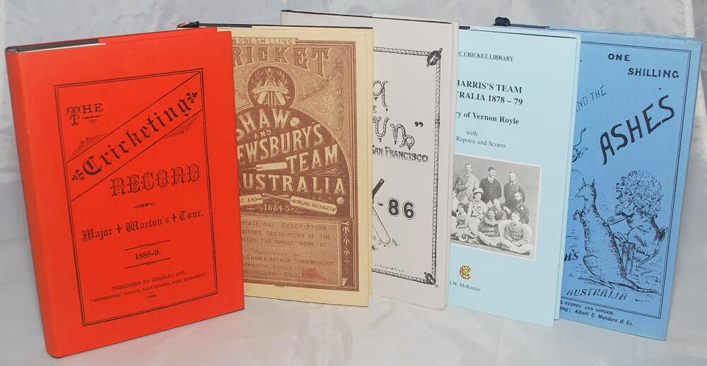 England Tour Histories Five Facsimile Reprints The Cricketing Record Of Major Whartons 1888 9 JW McKenzie 1987 Limited Edition No 143 200